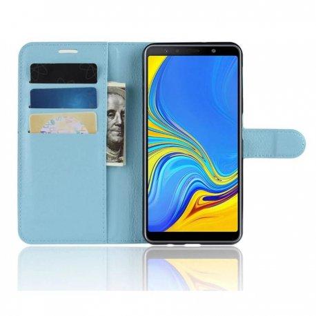 Funda Libro Samsung Galaxy A7 2018 Soporte Azul