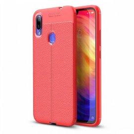 Funda Xiaomi Redmi Note 7 Tpu Cuero 3D Roja