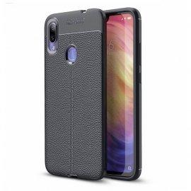 Funda Xiaomi Redmi Note 7 Tpu Cuero 3D Negra