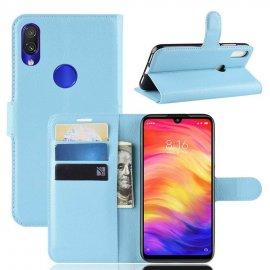 Funda Libro Xiaomi Redmi Note 7 cuero Soporte Azul