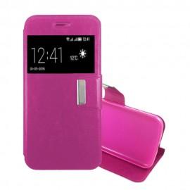 Funda Libro LG X Cam con Tapa Rosa