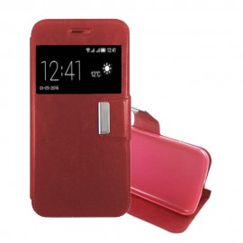 Funda Libro LG K10 con Tapa Roja
