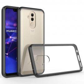 Funda Huawei Mate 20 Lite Hybrid Transparente con bordes Negro