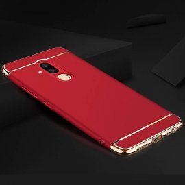 Carcasa Huawei Mate 20 Lite Roja Cromada