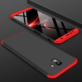 Funda 360 Samsung Galaxy J6 Plus Roja y Negra