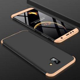 Funda 360 Samsung Galaxy J6 Plus Dorada y Negra