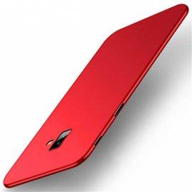 Funda Gel Samsung Galaxy J6 Plus Flexible y lavable Mate Roja