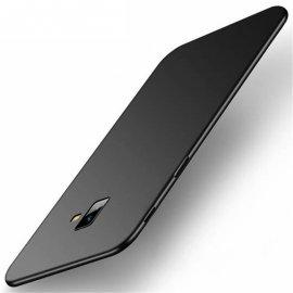 Funda Gel Samsung Galaxy J6 Plus Flexible y lavable Mate Negra