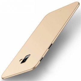 Funda Gel Samsung Galaxy J6 Plus Flexible y lavable Mate Dorada