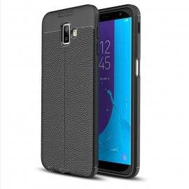 Funda Samsung Galaxy J6 Plus Tpu Cuero 3D Negra