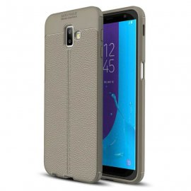 Funda Samsung Galaxy J6 Plus Cuero 3D Gris