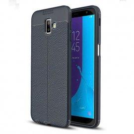 Funda Samsung Galaxy J6 Plus Cuero 3D Azul