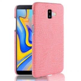 Carcasa Samsung Galaxy J6 Plus Cuero Estilo Croco Rosa