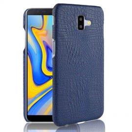 Carcasa Samsung Galaxy J6 Plus Cuero Estilo Croco Azul