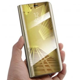 Funda Libro Smart Translucida Samsung Galaxy J6 Plus Dorada