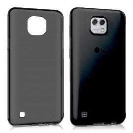 Funda Gel LG X Cam Flexible y lavable Negra