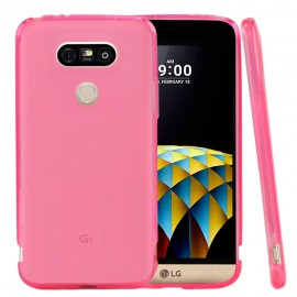 Funda Gel LG G5 Flexible y lavable Rosa