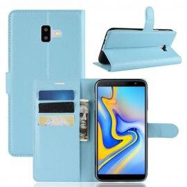 Funda Libro Samsung Galaxy J6 Plus cuero Soporte Azul