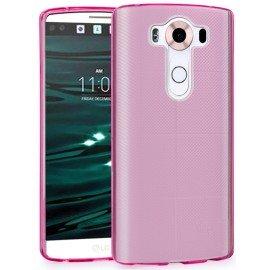 Funda Gel LG V10 Flexible y lavable Rosa