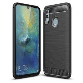 Funda Huawei P Smart 2019 Gel Hybrida Cepillada Negra
