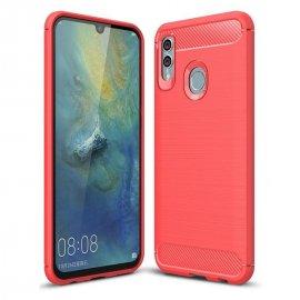 Funda Huawei P Smart 2019 Gel Hybrida Cepillada Roja