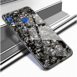 Funda Huawei P Smart 2019 Silicone con trasera Cristal Templado Negra