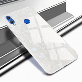 Funda Huawei P Smart 2019 Silicone con trasera Cristal Templado Blanco