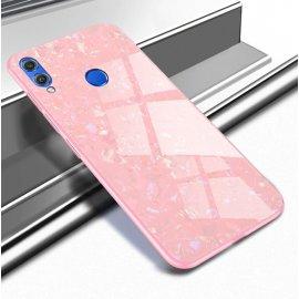 Funda Huawei P Smart 2019 Silicone con trasera Cristal Templado Rosa