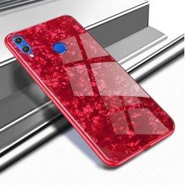 Funda Huawei P Smart 2019 Silicone con trasera Cristal Templado Roja