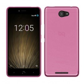 Funda Gel BQ Aquaris U Lite Flexible y lavable Rosa