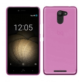 Funda Gel BQ Aquaris U Plus Flexible y lavable Rosa