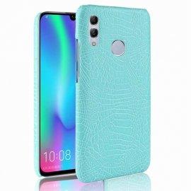 Carcasa Huawei P Smart 2019 Cuero Estilo Croco Turquesa