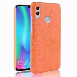 Carcasa Huawei P Smart 2019 Cuero Estilo Croco Naranja