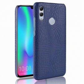 Carcasa Huawei P Smart 2019 Cuero Estilo Croco Azul