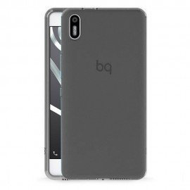 Funda Gel BQ Aquaris X5 Flexible y lavable Negra
