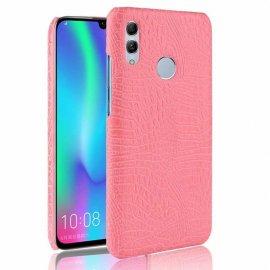 Carcasa Huawei P Smart 2019 Cuero Estilo Croco Rosa