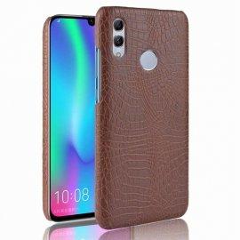 Carcasa Huawei P Smart 2019 Cuero Estilo Croco Marron