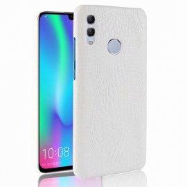 Carcasa Huawei P Smart 2019 Cuero Estilo Croco Blanca
