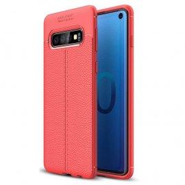 Funda Samsung Galaxy S10 Tpu Cuero 3D Roja