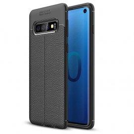 Funda Samsung Galaxy S10 Tpu Cuero 3D Negra