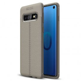 Funda Samsung Galaxy S10 Tpu Cuero 3D Gris