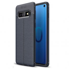Funda Samsung Galaxy S10 Tpu Cuero 3D Azul