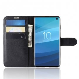 Funda Libro Samsung Galaxy S10 Soporte Negra