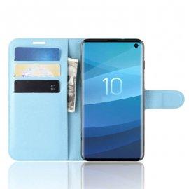 Funda Libro Samsung Galaxy S10 Soporte Azul