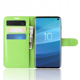 Funda Libro Samsung Galaxy S10 Soporte Verde