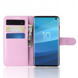 Funda Libro Samsung Galaxy S10 Soporte Rosa