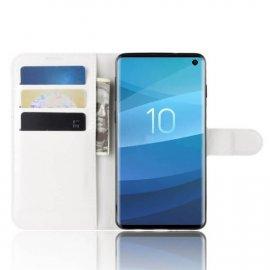 Funda Libro Samsung Galaxy S10 Soporte Blanca