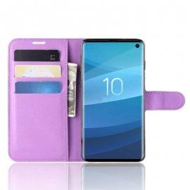 Funda Libro Samsung Galaxy S10 Soporte Lila
