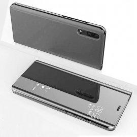Funda Libro Ventana Translucida Huawei P Smart 2019 Plateada