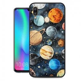 Funda Huawei P Smart 2019 Gel Dibujo Planetas